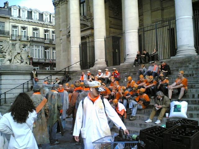 Colorista manifestación en Bruselas