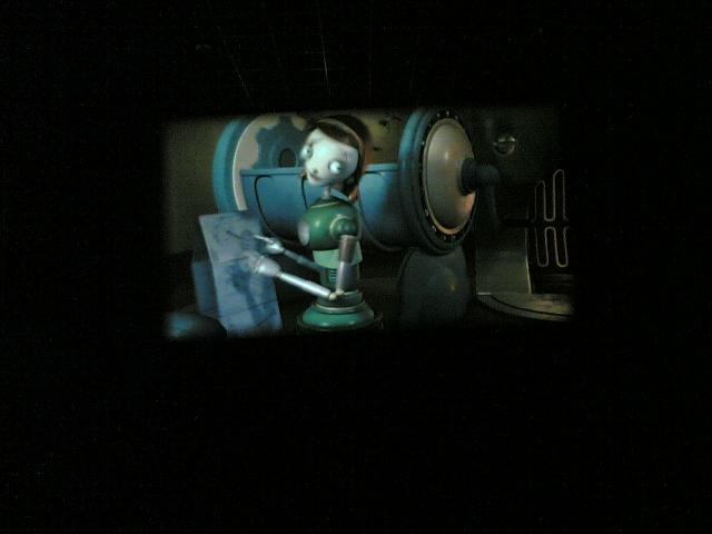 En el cine viendo Robots